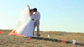 An einem Hochzeitstag stock video footage