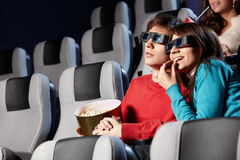 An einem Kino Stockfotos