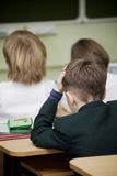 In einem Klassenzimmer Stockbild