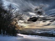An einem Midwinters-Tag beim Eifel stockbild