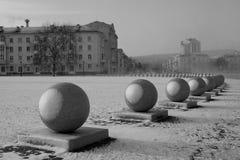 An einem seltenen Winter-Tag Stockbilder