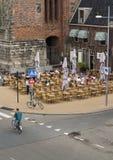 An einem warmen Tag in Groningen Stockbilder