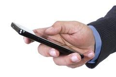 Einen Anruf nennen oder empfangend Lizenzfreie Stockbilder