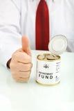 Einen Pensionsfonds zu haben ist eine gute Idee Lizenzfreies Stockfoto