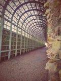 Einen Tunnel angelegter Weg Lizenzfreie Stockbilder