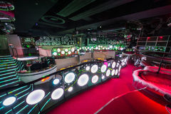Einer der Räume des Nachtklubs Pacha Stockfoto