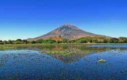 Einer der Vulkane von Kamchatka Vulkane von Kamchatka faszinieren Ihre Rätselhaftigkeit zieht viele Touristen an lizenzfreie stockfotos