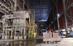 In einer Gießerei arbeiten, Pirdop, Bulgarien, Nov., 5, 2015 Lizenzfreie Stockbilder
