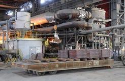 In einer Gießerei arbeiten, Pirdop, Bulgarien, Nov., 5, 2015 Stockfotos