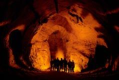 In einer Höhle. Lizenzfreie Stockbilder