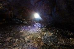 In einer Höhle Lizenzfreie Stockbilder