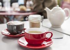 In einer Kaffeestube Lizenzfreies Stockbild
