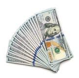 In einer Liste verzeichneter Stapel von 100 Dollar Lizenzfreies Stockbild