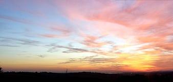 Einer von Brighton-` s Sonnenuntergängen stockbild