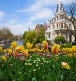 Einer von Kanälen in Amsterdam Stockfoto