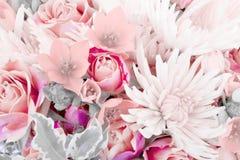 Eines Blumenblumenstraußes nah oben überraschen Stockfoto