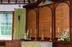 Eines inneren St Peter des flüchtigen Blickes Kapelle in St George, Bermuda Lizenzfreie Stockfotografie