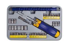 Einfaßungsschlüsselwerkzeugkasten Stockbild