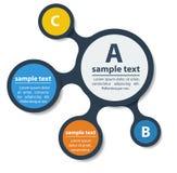 Einfach infographic Schablonenentwurf. Stockbilder