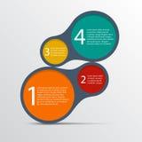 Einfach infographic Schablonenentwurf. Stockfoto
