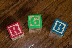 So einfach wie R G B rotes grün und blau Lizenzfreies Stockfoto
