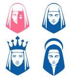 Einfache Abbildungen der geistigen Frauen Lizenzfreie Stockfotografie