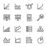 Einfache Analyse-Ikonen Stockbilder