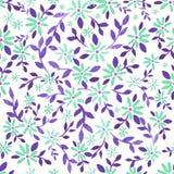 Einfache Aquarellblumenzeichnung Stockbild