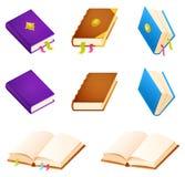 Einfache Bücher oder die magische mit Dekoration und Bändern Stockfotografie
