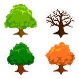 Einfache Baumillustration Lizenzfreie Stockfotos