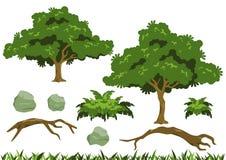 Einfache Baumvektoren Lizenzfreie Stockfotografie