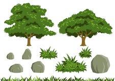 Einfache Baumvektoren Stockfotos