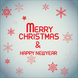 Einfache Beschriftung der frohen Weihnachten Lizenzfreie Stockfotografie
