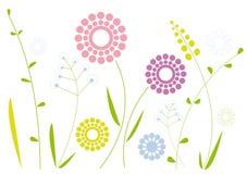 Einfache Blumenauslegung stock abbildung