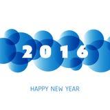 Einfache bunte neues Jahr-Karten-, Abdeckungs-oder Hintergrund-Design-Schablone - 2016 Lizenzfreies Stockfoto