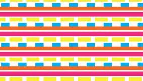 Einfache bunte Streifen und Blockmuster Stockfoto