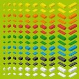 Einfache bunte Ziegelsteine des Kinderziegelstein-Spielzeugs lizenzfreie abbildung