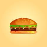 Einfache Burger-Ikone Vektor ENV 10 Lizenzfreie Stockfotos