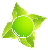 Einfache eco Ikone Lizenzfreie Stockfotos