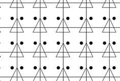 Einfache einfarbige Linie, Dreieck und Punktmuster Lizenzfreie Stockbilder