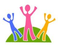 Einfache Familien-Gruppen-Klipp-Kunst 2 stock abbildung