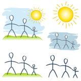 Einfache Familien-Maßeinheits-Klipp-Kunst lizenzfreie abbildung