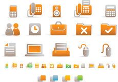 Einfache Farben-Ikone - Büro Stockfoto