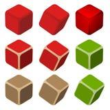Einfache Farbenwürfel Lizenzfreie Stockfotografie