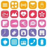 Einfache farbige Ikonen Lizenzfreie Stockbilder
