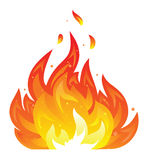 Lokalisierte Feuerikone Lizenzfreies Stockfoto