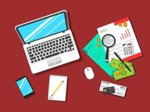 Einfache flache Einsparungen/Finanzkonzept-Vektor-Illustration lizenzfreie abbildung
