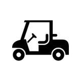 Einfache flache Vektorillustration der Golfautoikone Lizenzfreies Stockfoto