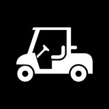 Einfache flache Vektorillustration der Golfautoikone Lizenzfreie Stockfotos