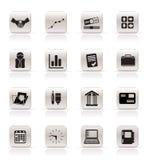 Einfache Geschäfts- und Büroikonen stock abbildung